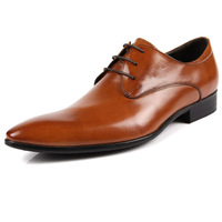 2015 fashion men's commercial formal genuine leather pointed toe lace-up dress wedding party handmade shoes