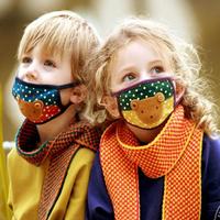 Cartoon bopokid 100% cotton breathable child baby masks windproof
