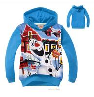 2015 new tops Children hoody frozen Olaf Spider-man boys girls long-sleeved hoodies sweatshirts kids outerwear dress clothing