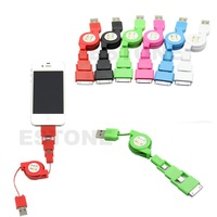 Mini 3 in1 Retractable Micro USB Sync Cable Charger For iPhone 5 4S Micro USB