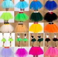 NEW Womens Gauze Tulle Balley Dance Pincess Mini TUTU Skirt Black  White Pink Yellow Blue Free Shipping Wholesale & Retail