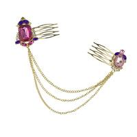 Fashion Gem Crystal Hair Comb Tassel Head Chain Hair Accessories hair jewelry head jewelry acessorios para cabelo MXIUX coupon