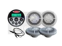 Waterproof Marine Radio Stereo for Tractor Boat MP3 USB Player SPA UTV ATV Sound System+ 6.5 inch marine Speaker+ Radio Antenna