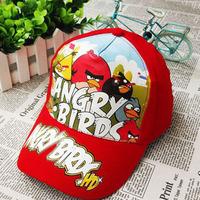 Free shipping Retail 1pc Children Cartoon Birds Baseball Cap adjustable cotton printing beanie bonnet Children's Sports Hats