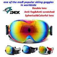 No.1 Brand Big Spherical Polarized Snowboard Goggles Skiing Eyewaer Motorcycle Gafas  Ski Mask Snowmobile Snow Sport Gear