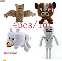 High Quality! 4pcs/set Juguetes Stuffed Plush Toy Minecraft Steve Doll For Kids Children Baby Boy Toys New Year Gift