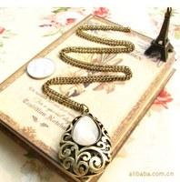 Free Shipping accessories fashion vintage drop gem carved necklace long necklaces & pendants design MXIUX CX086