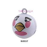 Retail Enamel Face Bird Cartoon Craft Bell Charms Handmade Jewelry Accessories Holiday Decoration