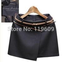 2015 Women's Spring Skirts High Waist Casual A-line Skirt Formal OL Suit Woolen Skirt Eiropean Design Mini Skirt
