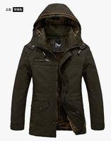 Hot Winter Men's Warm Jackets Parka Outerwear Fur lined thicken Hooded Long Coat