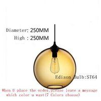 Modern Pendant Light Glass Solitaire Fashion Design Hanging Lamp Vintage Edison bulb Lighting Fixture Lustres Abajur Luminarias