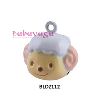 Retail Enamel Cute Sheep Cartoon Craft Bell Charms Handmade Jewelry Accessories Holiday Decoration