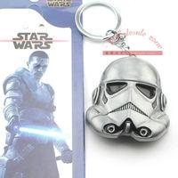 20pcs/lot Star Wars The Clones Trooper Keychain Metal Toy Pendant Fashion Key chain for Men Women