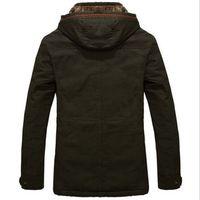 NEW Men's Warm Jackets Parka Outerwear Fur lined Winter thicken Long Coat Hooded