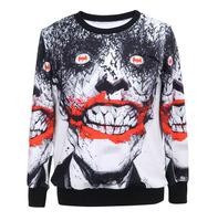 fashion 3D skeleton demon vermilion printing womens hoodies pullover long sleeve head loose women's clothing Dropship XY016