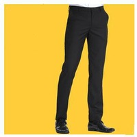 Free shipping High Quality Black Men Slim Suit Pants Bussiness Dress Pants Formal Trouses