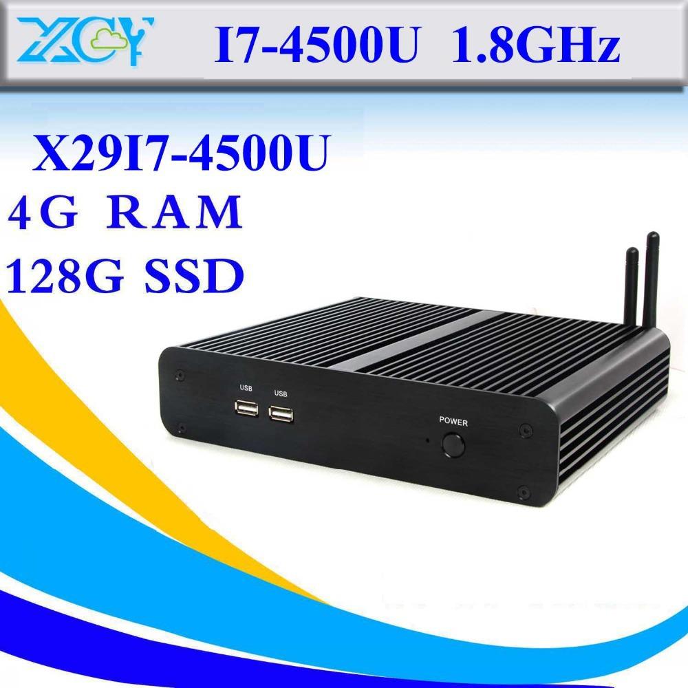 High performance i7 4500u fanless support WIN7 Linux Windows XP Ubuntu Debian computer keyboard mini pc thin client(China (Mainland))