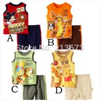 Baby Set Children's set kid's t-shirts girls boys t shirt+pants undershirt Shorts,clothing set,Children's cartoon clothing