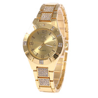 Free Shipping! Wholesale Stainless Steel Women ELegant Fashion Crystal Watch Ladies Quartz Watch