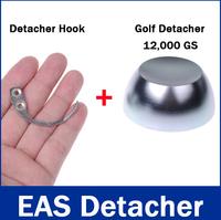 1Pc 12000GS Golf Detacher +1Pc Detacher Hook Key Tag Remover EAS System The Security Detacher