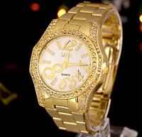 Women Quartz Watch Rhinestone Watches Stainless Steel Watch Crystal Shiny Lady Wristwatch Relogio Feminino wristwatches AE055