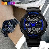 Free shipping 2015 fashion casual Outdoor sports Multifunction watch Waterproof Unisex electronic Wristwatches 5 colors