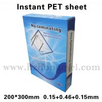 PET card material (white) for inkjet,  210*297. 0.15+0.28+0.15mm