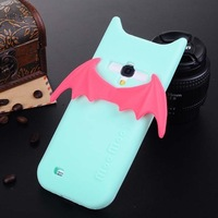 For SAMSUNG n7100 i9500 i9300 case wings evil styles silicone case cover with phone stand function free shipping