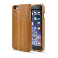 Free Shipping For iPhone 6 Case, Handmade Real Natural Bamboo Cover Protective Hard Phone Back Shell For iPhone 6 4.7 Inch