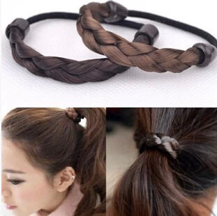 free shipping~False have ring twist braid hair rope women hair accessories hair-ring(China (Mainland))