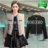 2014 women's cotton-padded jacket short design wadded jacket female winter thickening slim down cotton-padded jacket outerwear