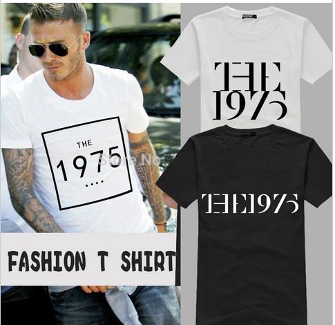 New Fashion Rock Music The 1975 Shirt T Shirt Cotton Short Sleeve T-shirt Top Tees For Men(China (Mainland))