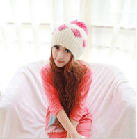New 2014 Women Fashion Wool Casual Skullies Knitted Caps Free Shipping Winter Ear Protect Cute Casual Women Beanies