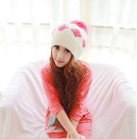 New 2014 Women Fashion Wool Casual Skullies Knitted Caps Free Shipping Winter Ear Protect Cute Casual Women Beanies