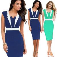 Plus Size S-XXL Hot Selling 2014 New European Fashion Summer Women Elegant Sleeveless Celebrity Bodycon Party Evening Dresses