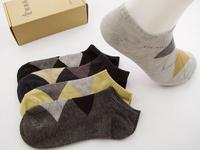 Factory wholesale price free  ship socks 100% cotton socks  short sports thin socks 5pairs/box