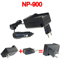 Battery charger+car charger for MINOLTA NP-900 NP900 LI-80B DiMAGE E40 E50 Olympus T100 X960
