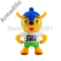 Hot ! 2014 World Cup Brazil Armadillo Mascot  PVC Usb flash drive Pen drive Usb memory stick  Usb disk 1GB 2GB 4GB 8GB 16GB 32GB