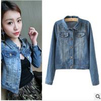 2014 spring autumn  New Style Girls Denim Jackets rivet single breasted Jean Jacket Coat clothings l1284