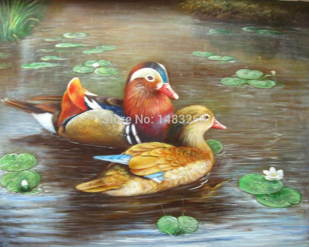 Photos des canards mandarin promotion achetez des photos for Peinture en resine