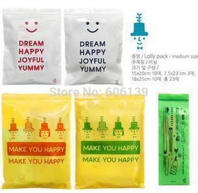 Lovely creative pringting Travel Storage bag clothing sorting bags 23pcs/lot free shipping(China (Mainland))