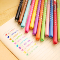 12 pcs/Lot Rainbow Gel pen Dot & dots pen Set Kawaii Korean Stationery Creative Gift Office material cute school supplies