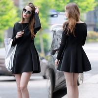 2014 Newest Euro Fashion Women Dresses Plus Size Slim Long Sleeve Warm Autumn and Winter Dress Sexy Party Dress