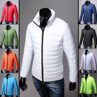 2014 New Fashion Men's Parkas Jacket Winter Cotton Coats Mens Wadded Jacket Man Jackets Warm Coat  duck down jacket men 9 Colors