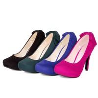 plus size eur 34-43 girls sexy high heels ladies shoes woman 2015 spring new arrive platform women shoes pumps female SD140456