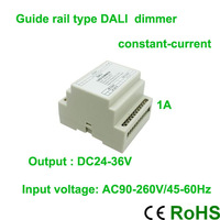 Brand New!!!High valtage AC90V-260VGuide rail type DALI constant-current dimmer controller ,1A  led bulb dimmer