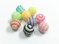 20mm 100pcs/lot Mixed  Stripe AB Resin  Rhinestone Beads Free Shipment !