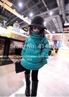 Joy Chang's girls fashion winter warm turtleneck super pretty color parka coat 2 colors 5pcs/lot