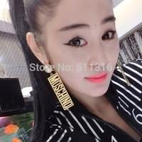 Moco-05 Oblong Earrings Hiphop Earrings Woman's Fashion Statement Earrings