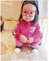 2014 New arrival baby Clothing set girls boys CC rose suits children suit kids coat + pants 2pcs sets free shipping